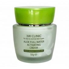Крем для лица Aloe Full Water Activating 50 гр, [3W CLINIC]