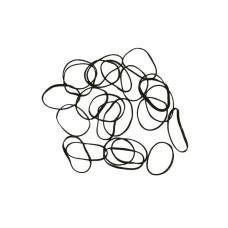 Резинки midi силиконовые черные, в пакете/130 шт (арт.  МР650227P)