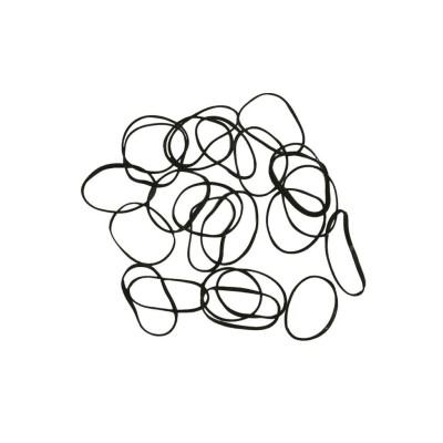 Резинки midi силиконовые черные в тубусе, 200 шт/уп (арт.  МР650190P)