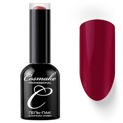 Гель-лак Cosmake №010 с липким слоем 11мл Темно-Красный