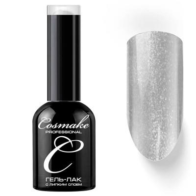 Гель-лак Cosmake №045 с липким слоем 11мл Серый с блестками