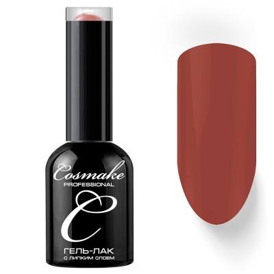 Гель-лак Cosmake №069 с липким слоем 11мл Коричнево-Красный