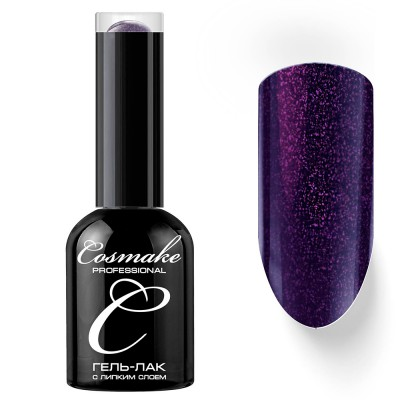 Гель-лак Cosmake №116 с липким слоем 11мл Фиолетовый с блестками