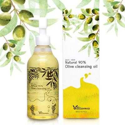 [Elizavecca] Гидрофильное масло с маслом ОЛИВЫ Natural 90% Olive Cleansing Oil, 300 мл