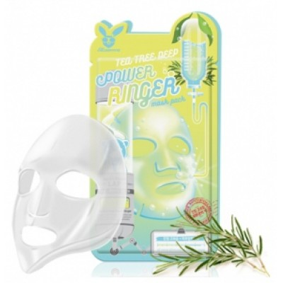 [Elizavecca] Тканевая маска д/лица Чайное Дерево TEA TREE DEEP POWER Ringer mask pack, 23 мл