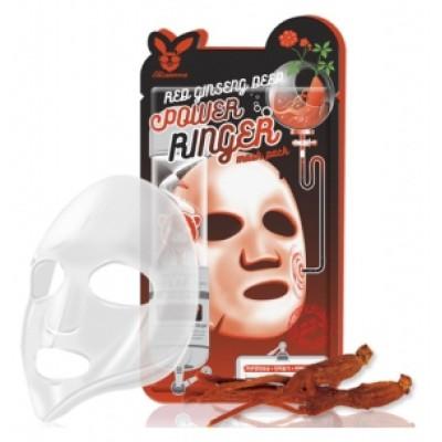 [Elizavecca] Тканевая маска д/лица с Красным Женьшенем RED gInseng DEEP PQWER Ringer mask pack, 23 мл