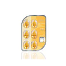 """Масло для волос Ellips Smooth & Shiny """"Роскошное сияние"""" с маслом Алоэ Вера в блистере, 6 капсул в блистере"""