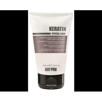 Реструктурирующий  флюид для секущихся кончиков с кератином для химически поврежденных волос KAYPRO KERATIN, 100ml