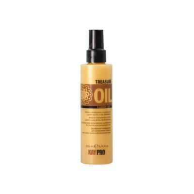 Двухфазный  кондиционер для увлажнения и блеска сухих, хрупких и обезвоженных волос KAYPRO TREASURE OIL 5 LUXURY OILS, 200ml