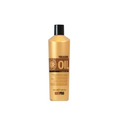 Увлажняющий и придающий блеск шампунь для сухих, хрупких обезвоженных волос KAYPRO TREASURE OIL 5 LUXURY OILS, 350ml