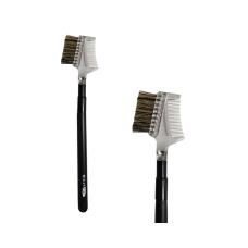 Комбинированная кисть для расчесывания бровей и ресниц 9N Milan PRO, Щетина