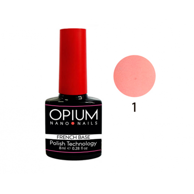 Базовое покрытие French Base Color 1 OPIUM Nano Nails, 8ml