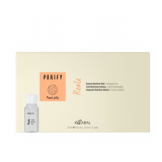 Интенсивный восстанавливающий несмываемый лосьон для поврежденных волос с пчелиным маточным молочком Kaaral PURIFY REALE INTENSE LOTION, 12*10ml