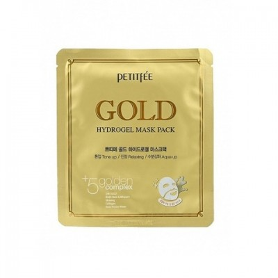 [PETITFEE] НАБОР/Маска д/лица гидрогел. c ЗОЛОТОМ Gold Hydrogel Mask Pack, 1 шт