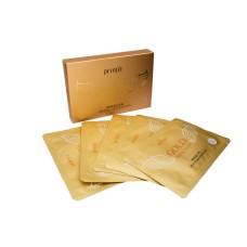 [PETITFEE] НАБОР/Маска-патч д/шеи гидрогел. АНТИВОЗРАСТНАЯ с золотом для шеи Gold Neck Pack 5 шт